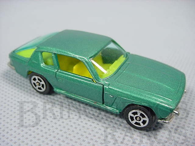 Brinquedo antigo Jensen Interceptor Corgi Jr Whizzwheels azul metálico