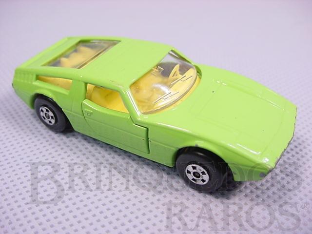 Brinquedo antigo Maserati Bora Superfast verde limão Brazilian Matchbox Inbrima 1970