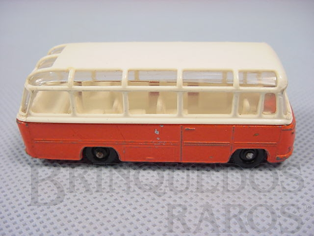 Brinquedo antigo Mercedes Coach black plastic Regular Wheels