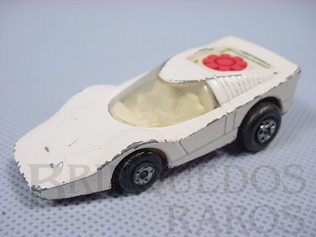 Brinquedo antigo Fandango Superfast Rola-Matics branco Brazilian Matchbox Inbrima 1970