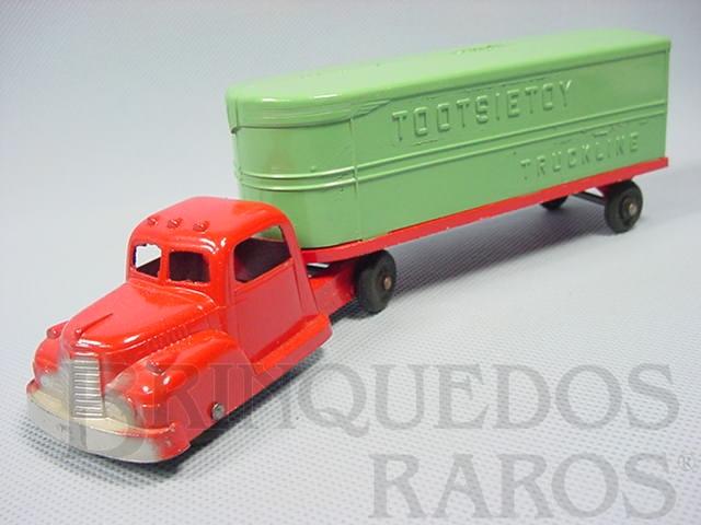 Brinquedo antigo Cavalo Mecânico e carreta Baú com 22,00 cm de comprimento Década de 1950