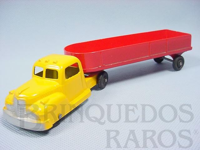 Brinquedo antigo Cavalo Mecânico e carreta com 22,00 cm de comprimento Década de 1950
