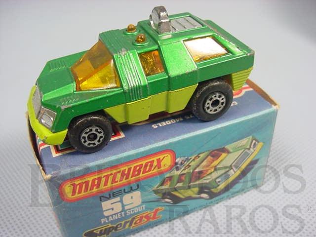 Brinquedo antigo Planet Scout Superfast verde metálico