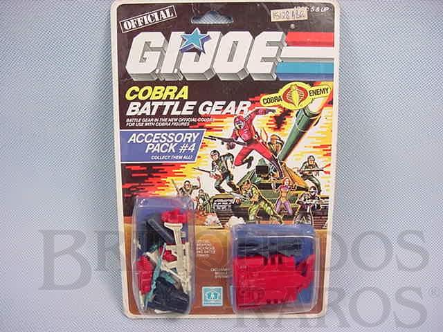 Brinquedo antigo Accessory Pack number 4 completo Battle Gear lacrado Ano 1985