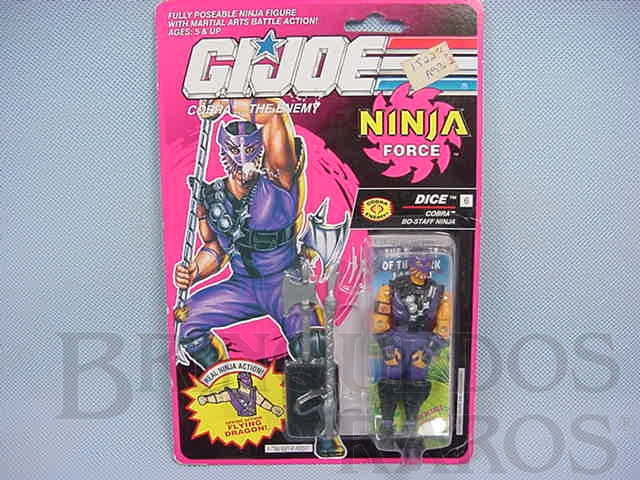 Brinquedo antigo Ninja Force Dice completo lacrado Ano 1991