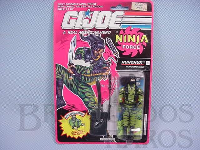 Brinquedo antigo Ninja Force Nunchuk completo lacrado Ano 1991