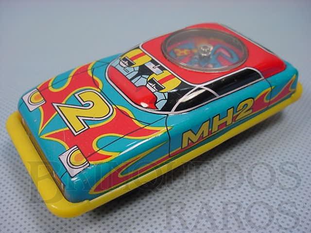 Brinquedo antigo Carro MH2 com Roleta 10,00 cm de comprimento Década de 1970