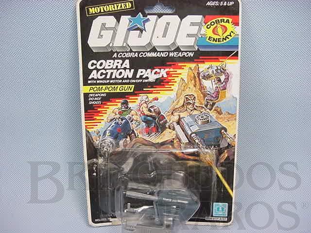 Brinquedo antigo Action Pack Cobra Pom-Pom Gum completo lacrado Ano 1987
