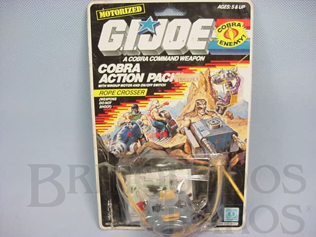Brinquedo antigo Action Pack Cobra Rope Crosser completo lacrado Ano 1987
