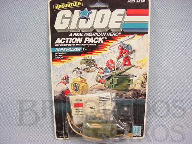 Brinquedo antigo Action Pack Rope Walker completo lacrado Ano 1987