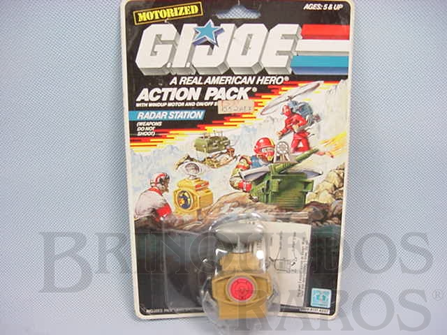 Brinquedo antigo Action Pack Radar Station completo lacrado Ano 1987