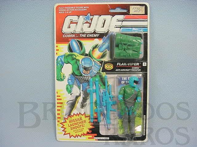 Brinquedo antigo Cobra Flak Viper completo lacrado Ano 1991