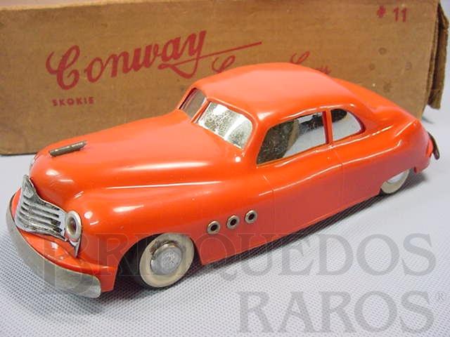Brinquedo antigo Buick Vibro Roll com 20,00 cm de comprimento Motor à vibração Década de 1950