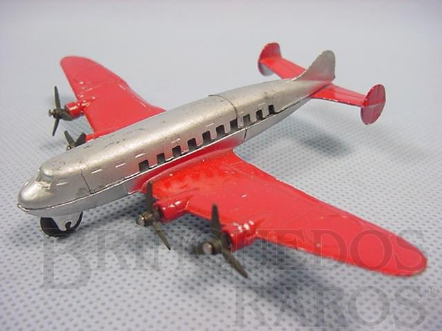 Brinquedo antigo Avião Quadrimotor de Passageiros com 10,00 cm de comprimento Série Jumbos Década de 1930