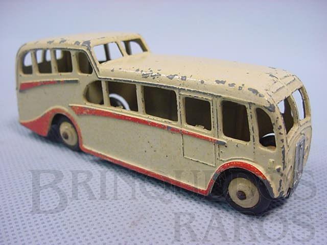 Brinquedo antigo Observation Coach creme e vermelho Década de 1940