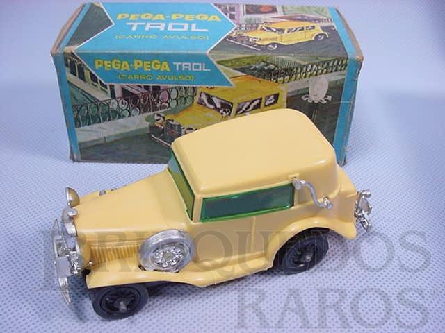 Brinquedo antigo Carro avulso para Pega Pega Trol amarelo Década de 1970