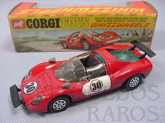 Brinquedo antigo Ferrari 206 Dino Sport vermelha Ano 1970
