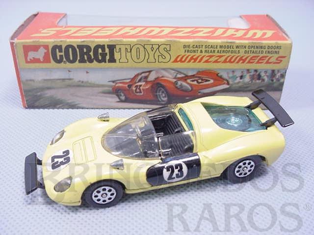 Brinquedo antigo Ferrari 206 Dino Sport amarela Ano 1970