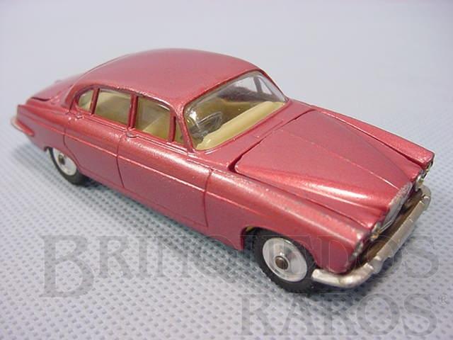 Brinquedo antigo Jaguar Mark X Saloon, vermelho metálico. Ano 1965