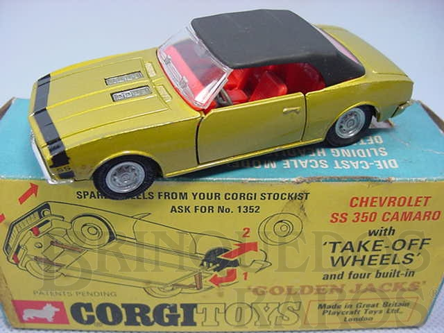 Brinquedo antigo Chevrolet Camaro SS 350 Série Take-Off Wheels Ano 1969