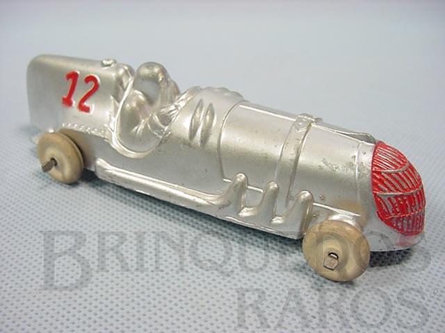 Brinquedo antigo Carro de Corrida com 14,00 cm de comprimento Década de 1940