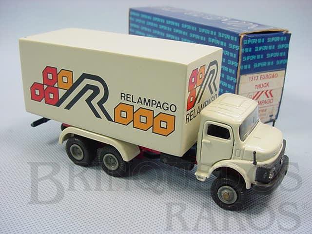 Brinquedo antigo Mercedes Benz 1513 furgão truck Relampago