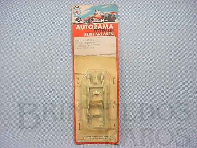 Brinquedo antigo Chassi Monobloco de Alumínio para Carros Ford GT Lola Mark III e Ford J 1:32 Embalagem Lacrada Ano 1972
