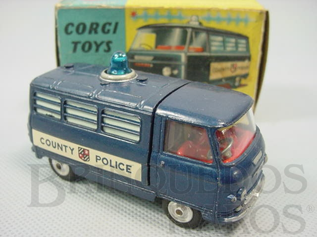 Brinquedo antigo Commer Police Van With Flashing Light Década de 1960
