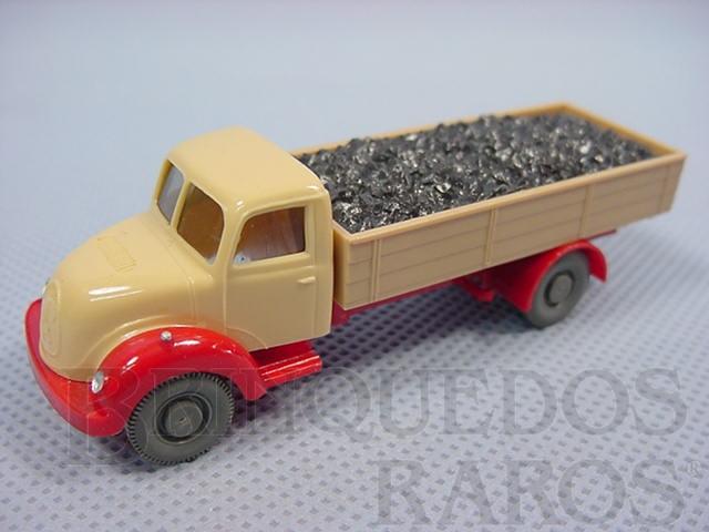 Brinquedo antigo Caminhão Magirus Deutz 1939 carga seca Transporte de carvão.