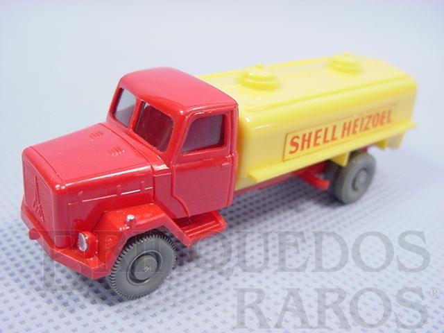 Brinquedo antigo Caminhão Tanque Magirus Deutz Shell Heizoel
