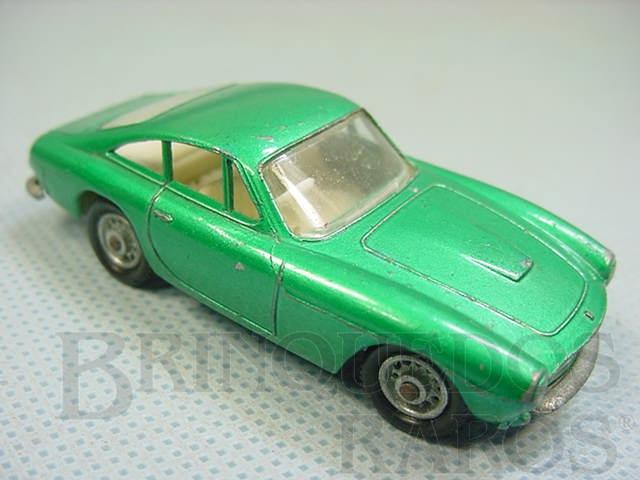 Brinquedo antigo Ferrari Berlinetta black plastic Regular Wheels metallic light green body