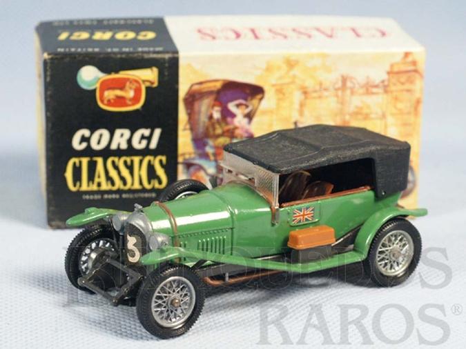 Brinquedo antigo Bentley 1927 verde Série Corgi Classics