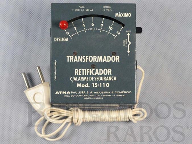 Brinquedo antigo Transformador com Alarme de Segurança 15/110 Volts Década de 1970