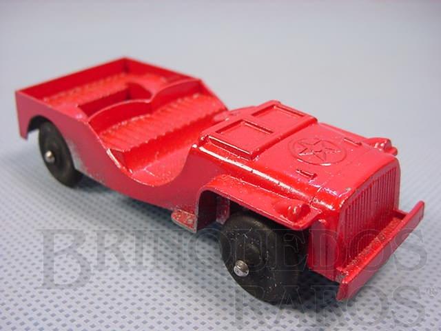 Brinquedo antigo Jeep com 10,00 cm de comprimento Década de 1950