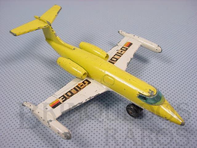 Brinquedo antigo Lear Jet Sky Busters Brazilian Matchbox Inbrima 1970
