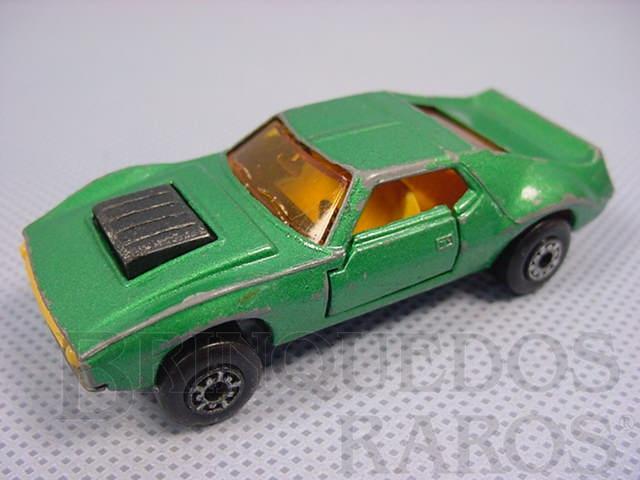 Brinquedo antigo AMX Javelin Superfast verde metálico Brazilian Matchbox Inbrima 1970