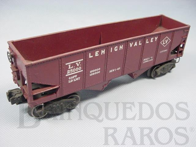 Brinquedo antigo Vagão 6456 Lehigh Valley Hopper maroom Ano 1954