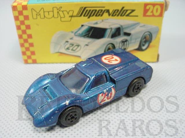 Brinquedo antigo Ford GT40 Muky Superveloz cópia da Ford J Car lançada pela Hot Wheels em 1968 Década de 1970