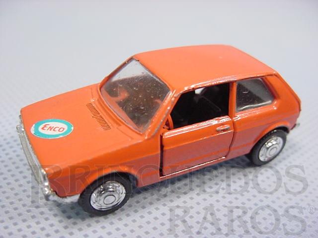Brinquedo antigo Volkswagen Golf LS laranja Schuco Modell Brasilianische Schuco Rei