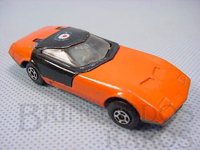 Brinquedo antigo Dodge Charger MK III Superfast laranja com teto preto Brazilian Matchbox Inbrima 1970