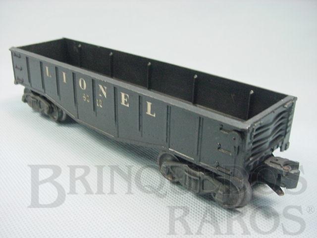 Brinquedo antigo Vagão 6012 Gondola Lionel black Ano 1955 a 1956