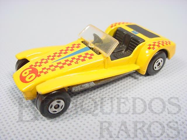 Brinquedo antigo Lotus Super Seven Superfast amarela numero 60