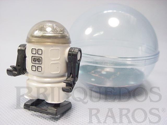 Brinquedo antigo Robozinho Roby Robot Trol branco com 5,00 cm de altura Década de 1980