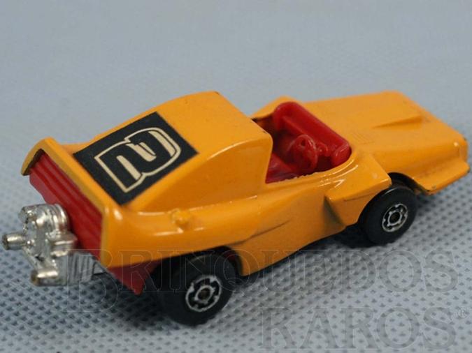 Brinquedo antigo Woosh-N-Push Superfast laranja Brazilian Matchbox Inbrima 1970