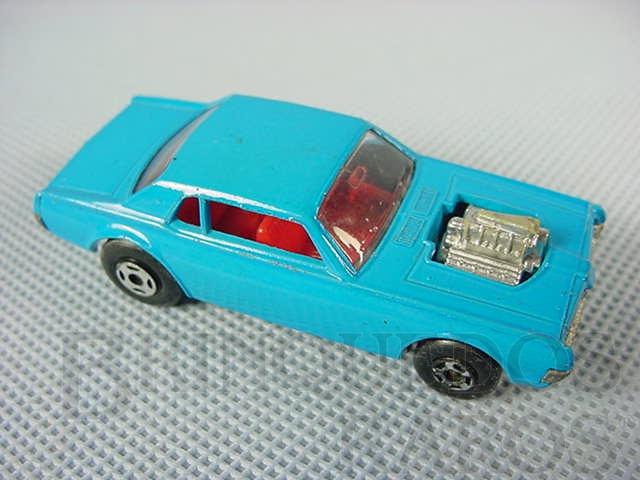 Brinquedo antigo Mercury Cougar Dragster Superfast azul Brazilian Matchbox Inbrima 1970