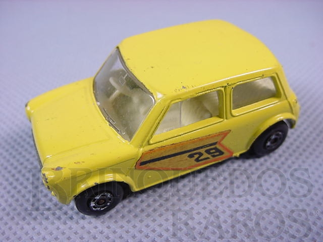Brinquedo antigo Racing Mini amarelo Brazilian Matchbox Superfast Inbrima 1970