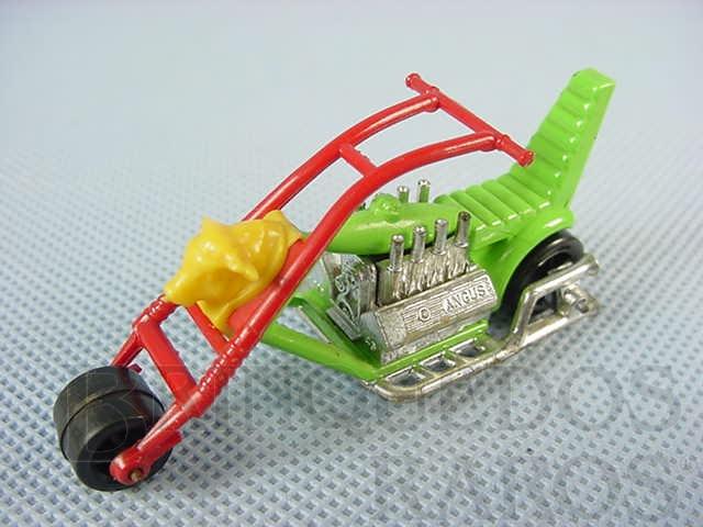 Brinquedo antigo Chopper Chop Suey verde Superfast Brazilian Matchbox Inbrima 1970