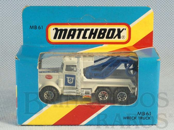 Brinquedo antigo Peterbilt Police Wrecker Superfast Caixa Lacrada