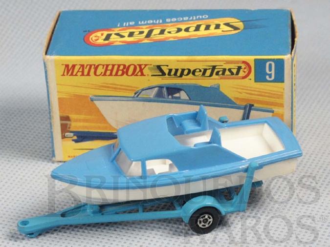 Brinquedo antigo Boat and Trailer Superfast Transitional Weels