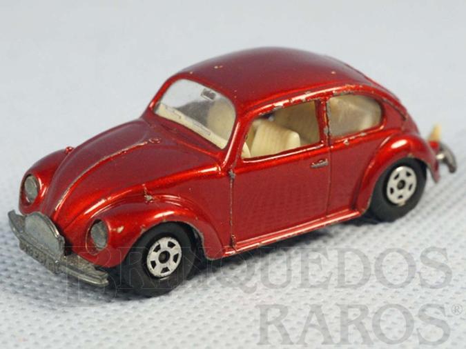 Brinquedo antigo Volkswagen 1500 Sedan Superfast Transitional Weels vermelho metálico Faltam os adesivos